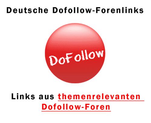 Dofollow Backlinks aus deutschen Foren kaufen