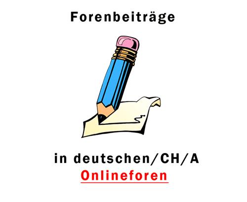Beiträge aus deutschen Foren kaufen